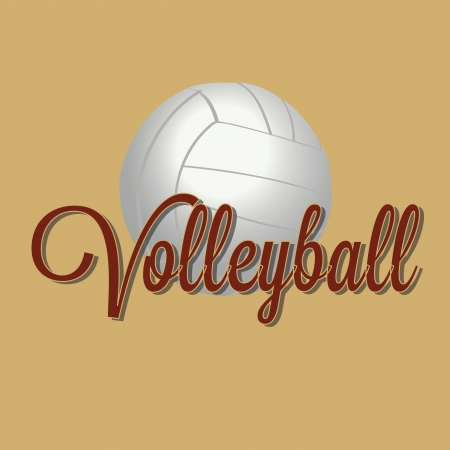 volleyball ball on light yellow background Vector