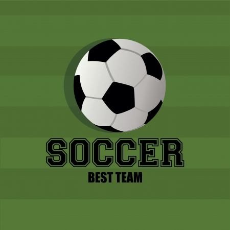 teammate: soccer ball on green ground background