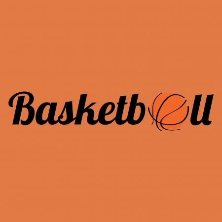 teammate: basketball text on orange background Illustration