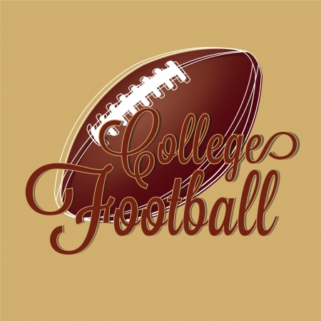 college football on brown background