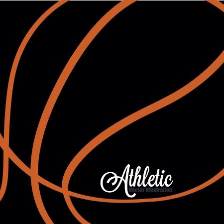 ballon basketball: abstrait de basket-ball avec zoom Illustration