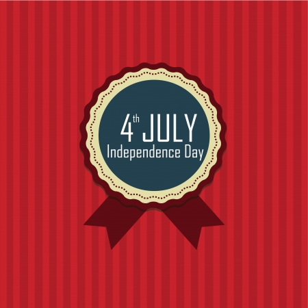 4th July independence day stamp on red background Vector