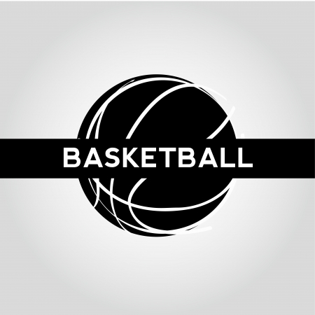 degraded: abstract basketball icon on degraded background Illustration