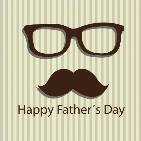 Daddy Mustache with happy fathers day text Vector