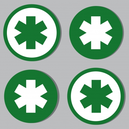 medicine icons: medicine icons on green or white circles