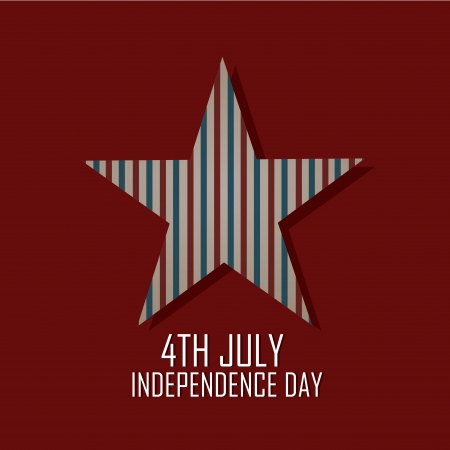 Abstract independence day star on red background Vector