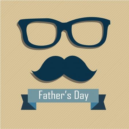 absract: Faccia Absract e il testo del padre giornata su sfondo marrone chiaro