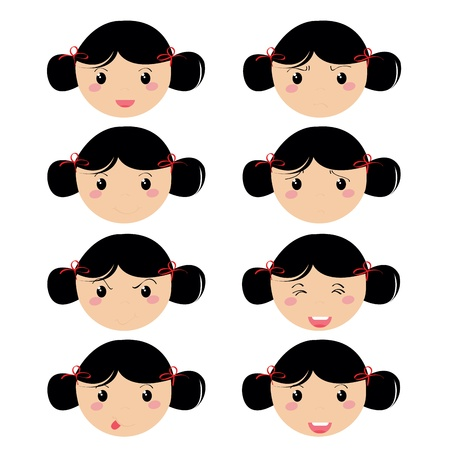 grild expresion face icons royalty free cliparts vectors and stock