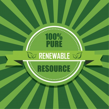 renewable icon on special green background Vector