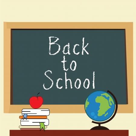 school classroom: back to school classroom on light yellow background