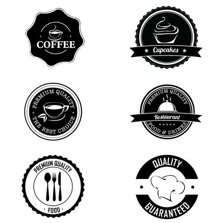 bakery price: different premium labels on white background