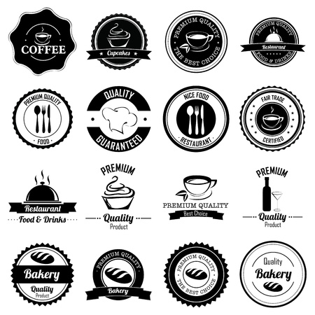 bakery price: different labels on white background Illustration