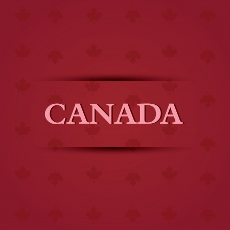emblem red: abstract canada text on special allusive flag background