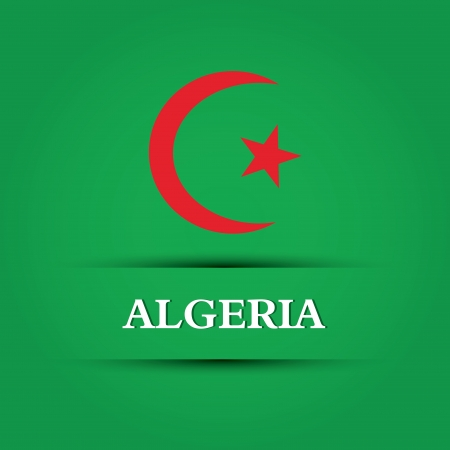 allusive: Algeria text on special allusive flag background Illustration