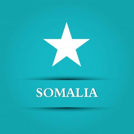 allusive: somalia text on special allusive flag background