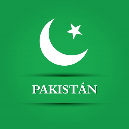 allusive: abstract pakistan text on special allusive flag background Illustration