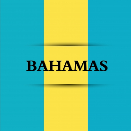 allusive: bahamas text on special background allusive to the flag