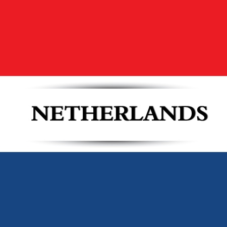 netherlands text on special background allusive to the flag Illustration