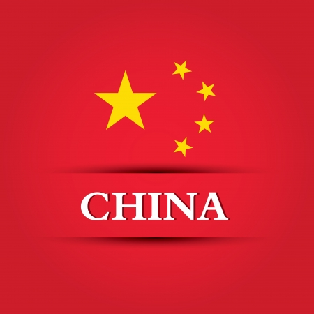 allusive: china text on special background allusive to the flag