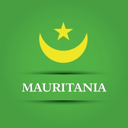 allusive: mauritania text on special background allusive to the flag