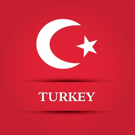 allusive: Turkey text on special background allusive to the flag