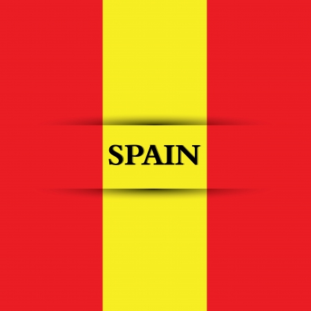allusive: Spain text on special background allusive to the flag