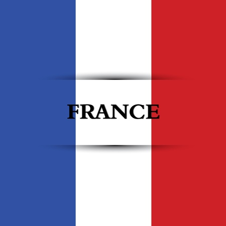 France text on special background allusive to the flag Illustration