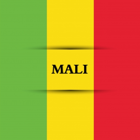 allusive: Mali text on special background allusive to the flag