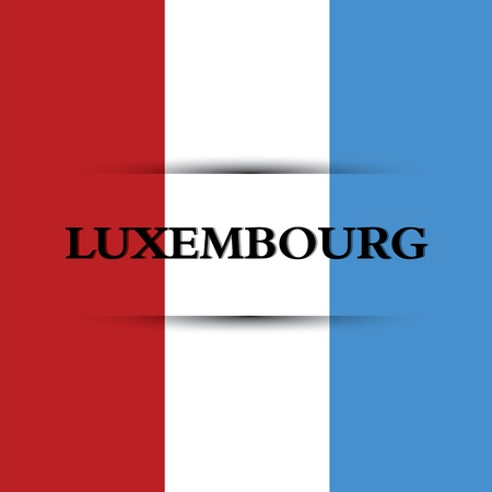 allusive: Luxembourg text on special background allusive to the flag