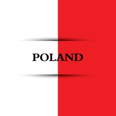 allusive: Poland text on special background allusive to the flag