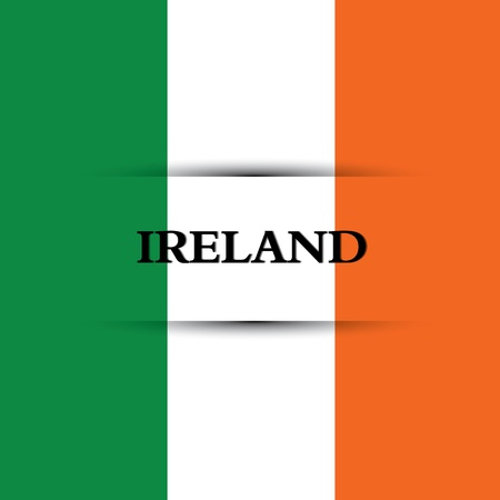 allusive: Ireland text on special background allusive to the flag Illustration