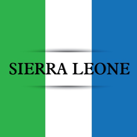 allusive: Sierra Leone text on special background allusive to the flag Illustration