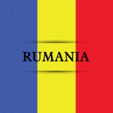 rumania: Rumania text on special background allusive to the flag Illustration