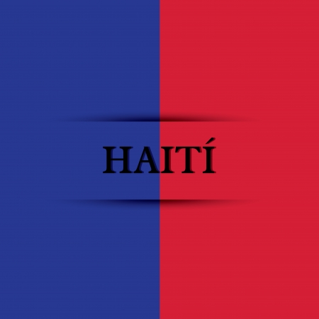 allusive: Haiti text on special background allusive to the flag Illustration