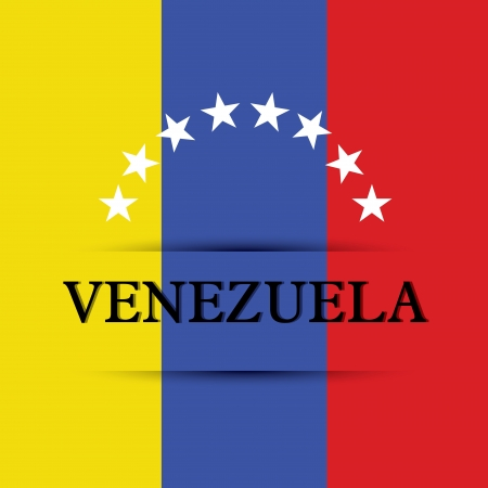allusive: Venezuela text on special background allusive to the flag