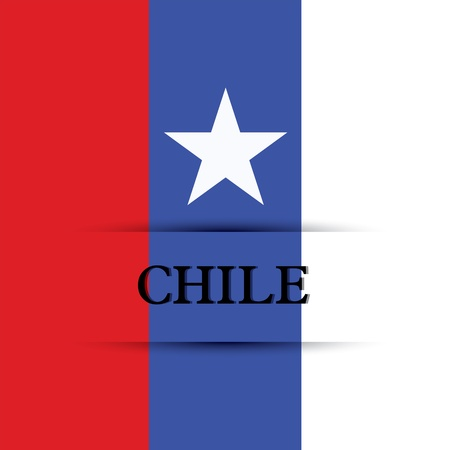 allusive: Chile text on special background allusive to the flag