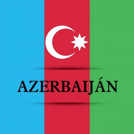allusive: Azerbaijan text on special background allusive to the flag
