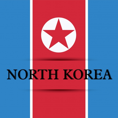 allusive: North Korea text on special background allusive to the flag Illustration
