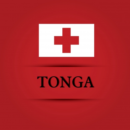 allusive: Tonga text on special background allusive to the flag