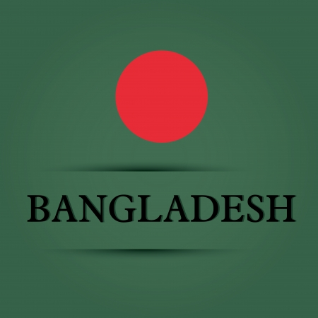 allusive: Bangladesh text on special background allusive to the flag
