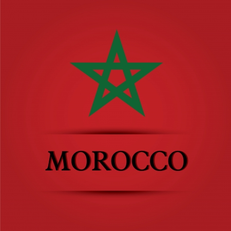 Morocco text on special background allusive to the flag Illustration
