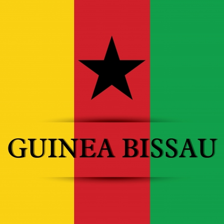 Guinea Bissau text on special background allusive to the flag Illustration