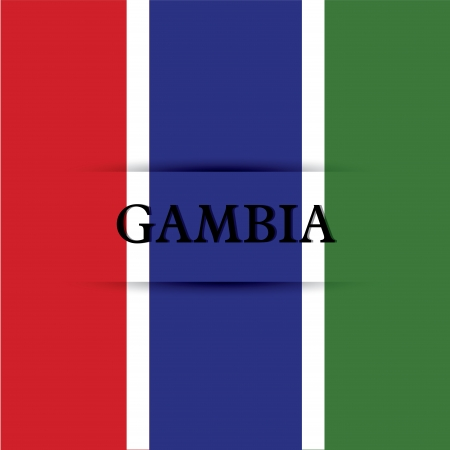 gambia: Gambia text on special background allusive to the flag