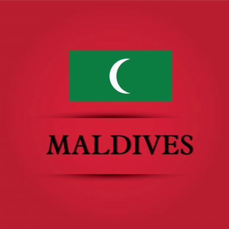 allusive: Maldives text on special background allusive to the flag Illustration