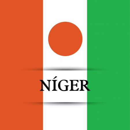 allusive: Niger text on special background allusive to the flag Illustration