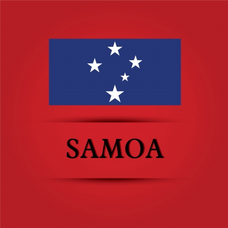 allusive: Samoa text on special background allusive to the flag Illustration