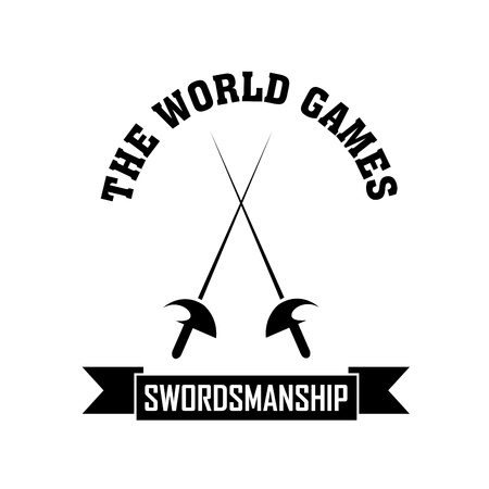 swordsmanship: Swordsmanship symbol on white background