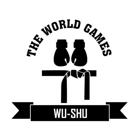 Wu-shu symbol on white background Illustration