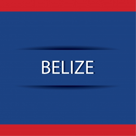 abstract Belize text on special allusive flag background Illustration
