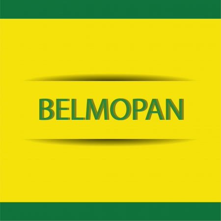 allusive: abstract Belmopan text on special allusive flag background Illustration